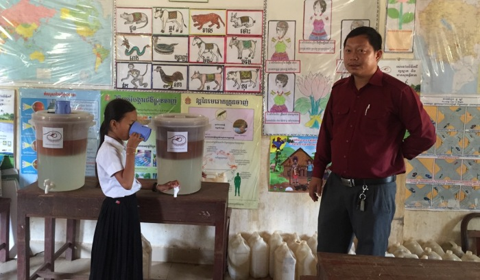 16.05 Mr. Channa (chief of Child Welfare Office in Samaki Meanchey District) to see the activities of our project